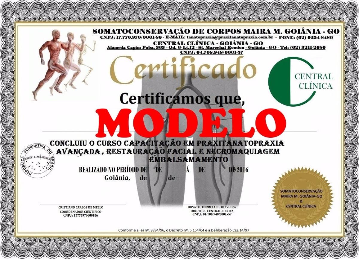 Certificado Tanatoraxista