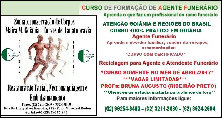 Curso de Agente Funerário, Central Clínica, Tanatopraxia, Curso de Tanatopraxia, Bruna Augusto, Cristiano Mello