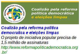 Coalizão pela reforma politica democratica e eleições limpas