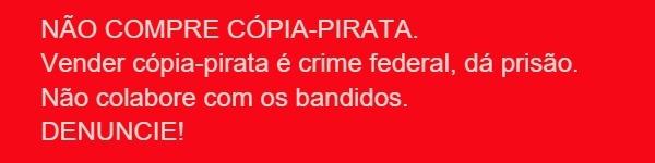 Imagem de aviso de crime de pirataria