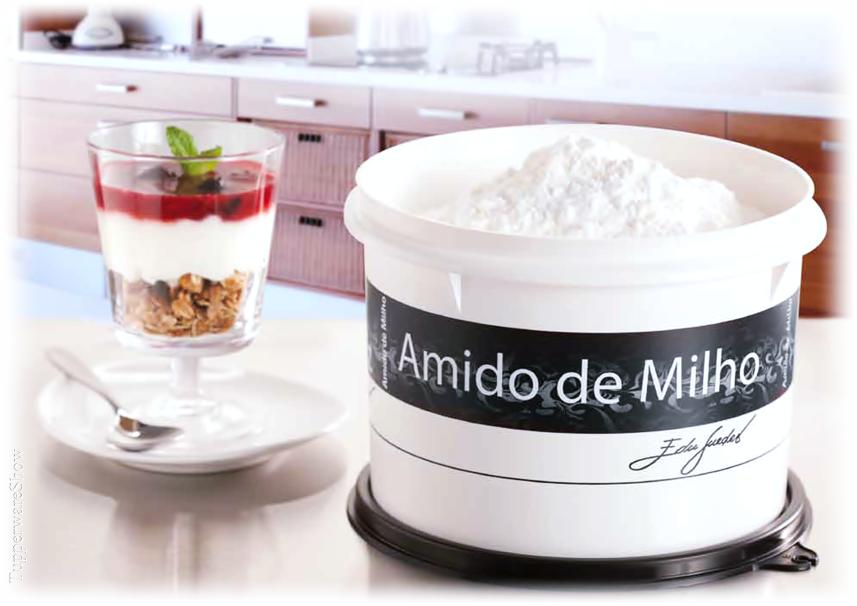 Caixa para Amido de Milho Coleção P&B assinada pelo Chef Edu Guedes