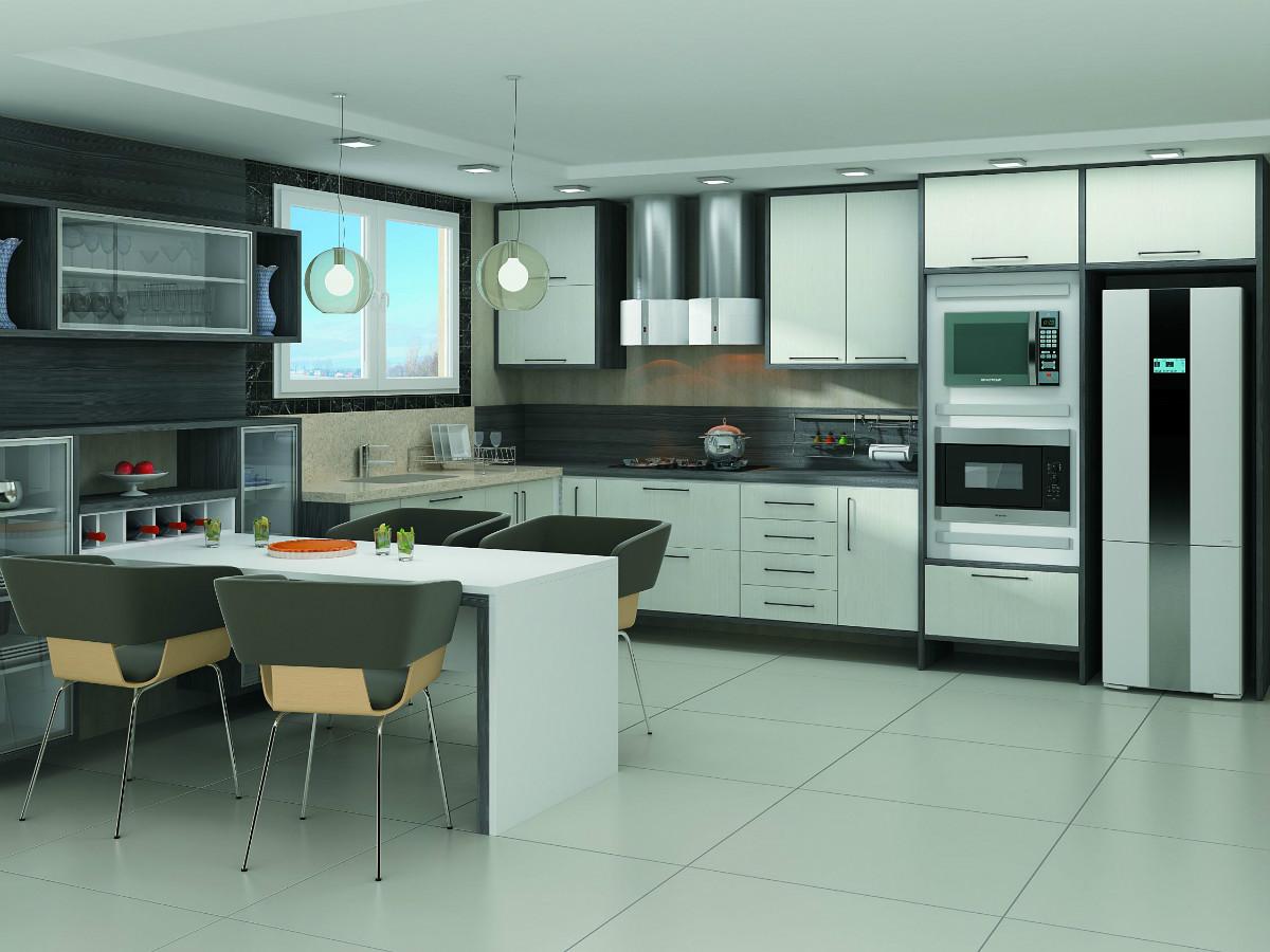 Cozinha planejada 100% MDF . #693427 1200 900