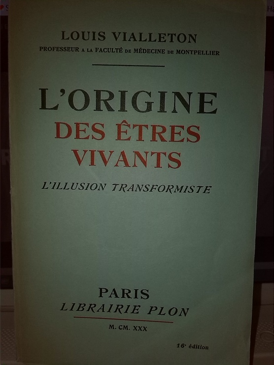 L'origine des êtres vivants