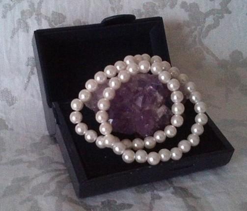 collier vintage en perles naturelles.