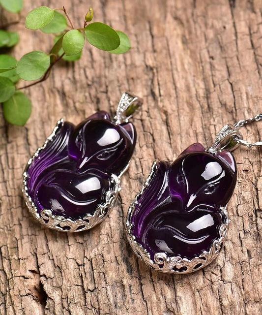 élégant collier avec pendentif en pierres fines, pour femme, de la collection *le renard*, en vente chez Zappandoo.